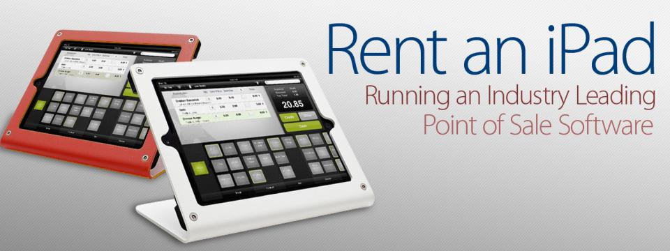 Rent an iPad equipped with point of sale software