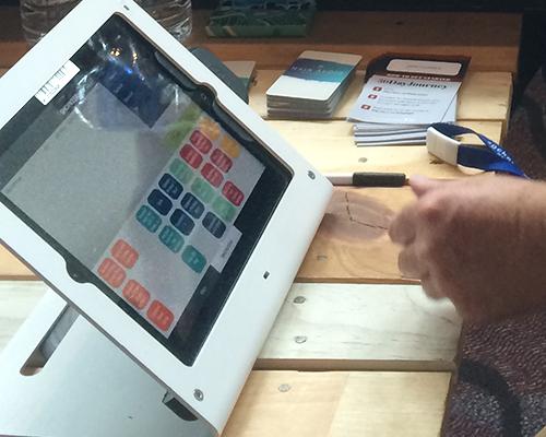 iPad sales screen