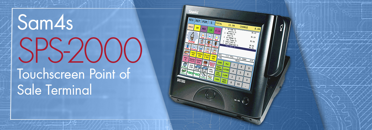 SPS 2000 touchscreen pos terminal