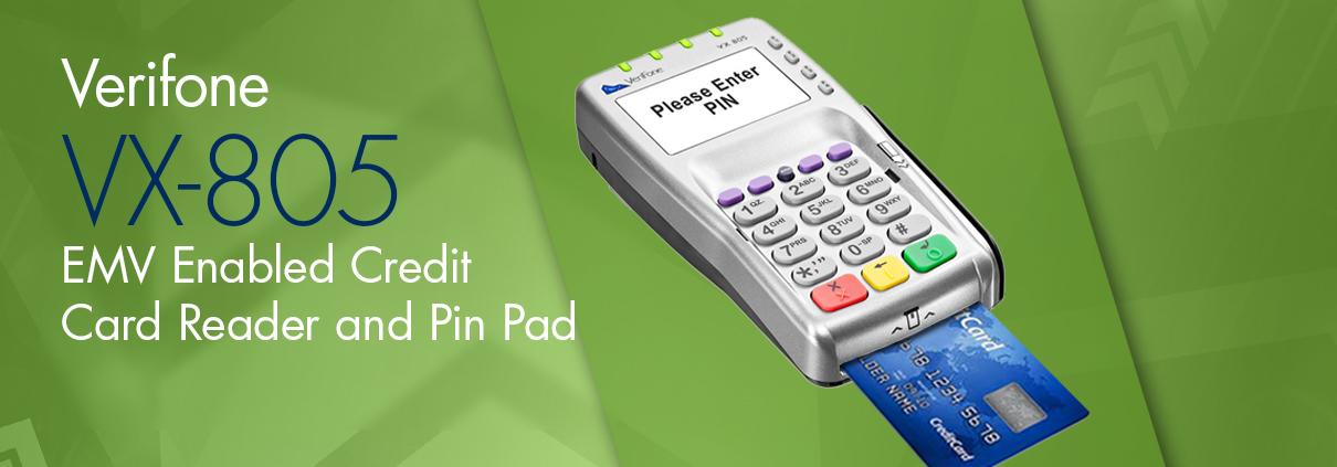 vx-805 credit card