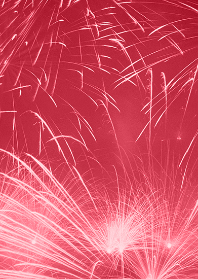red background fireworks