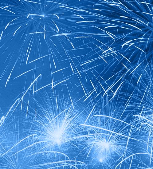 blue background fireworks