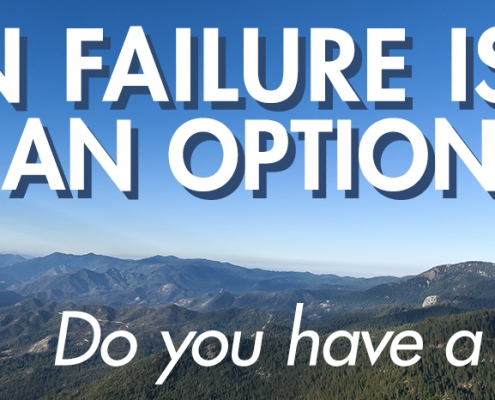 Rock Climbing - failure is not an option