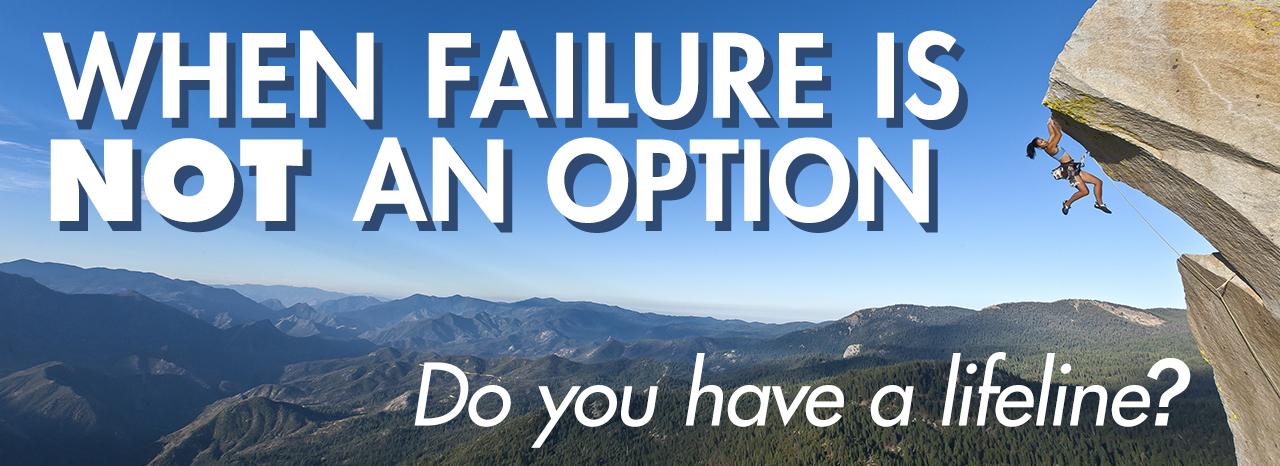 Rock Climbing - failure is not an option
